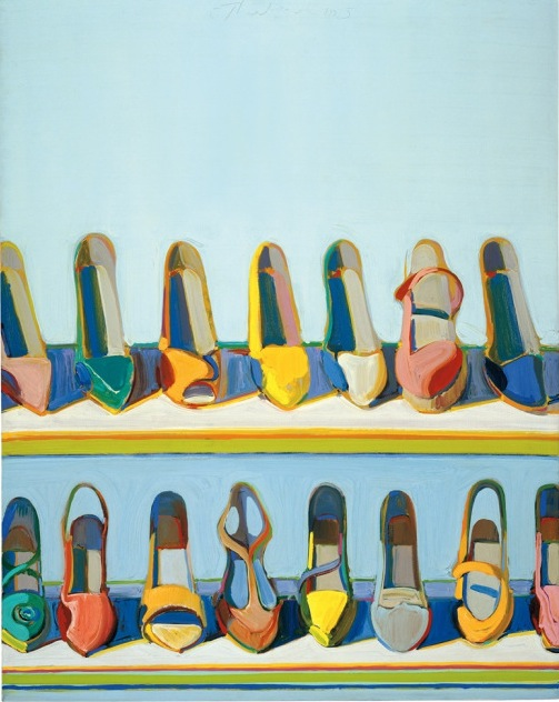 Wayne Thiebaud, Shoe Rows, 1975, oil on canvas, 30 x 24 inches (76.2 x 61 cm), C
