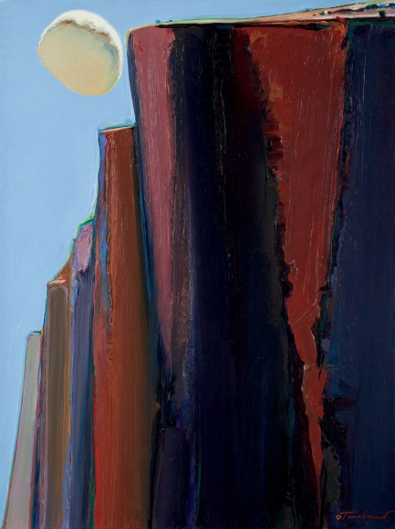 Wayne Thiebaud, Cloud and Bluffs, 1972, oil on linen, 24 x 18 inches (courtesy of Allan Stone Projects)