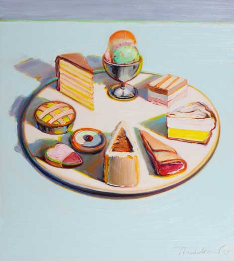 Wayne Thiebaud, Dessert Circle, 1992-1994 (© Wayne Thiebaud/Licensed by VAGA, Ne