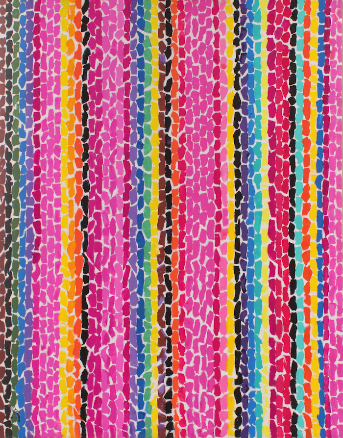 Alma Thomas, The Azaleas Sway with the Breeze, 1969, acrylic and graphite on can