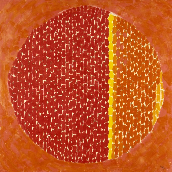 Alma Thomas, Snoopy Sees Earth Wrapped in Sunset, 1970 (Smithsonian American Art Museum)