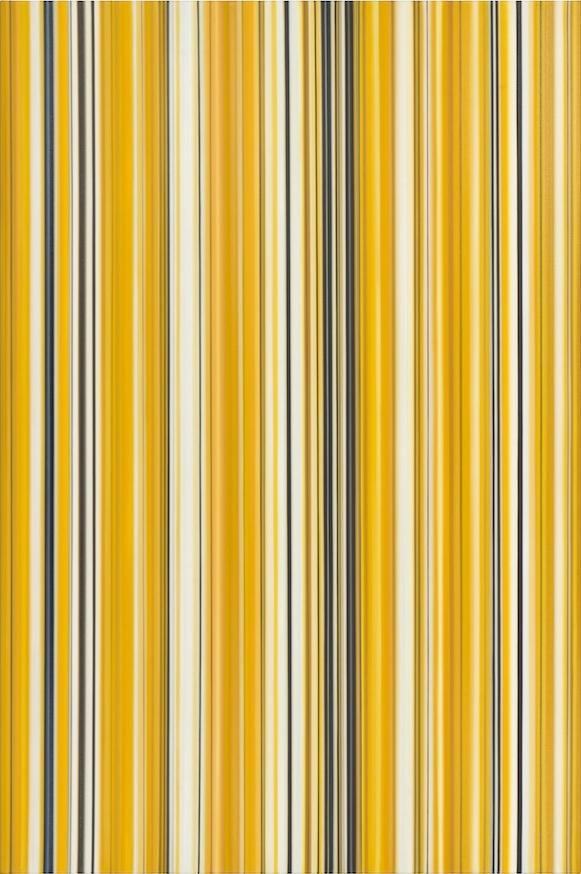 Cornelia Thomsen, Stripes No. 71, 2013, oil on canvas, 48 x 32 inches (courtesy