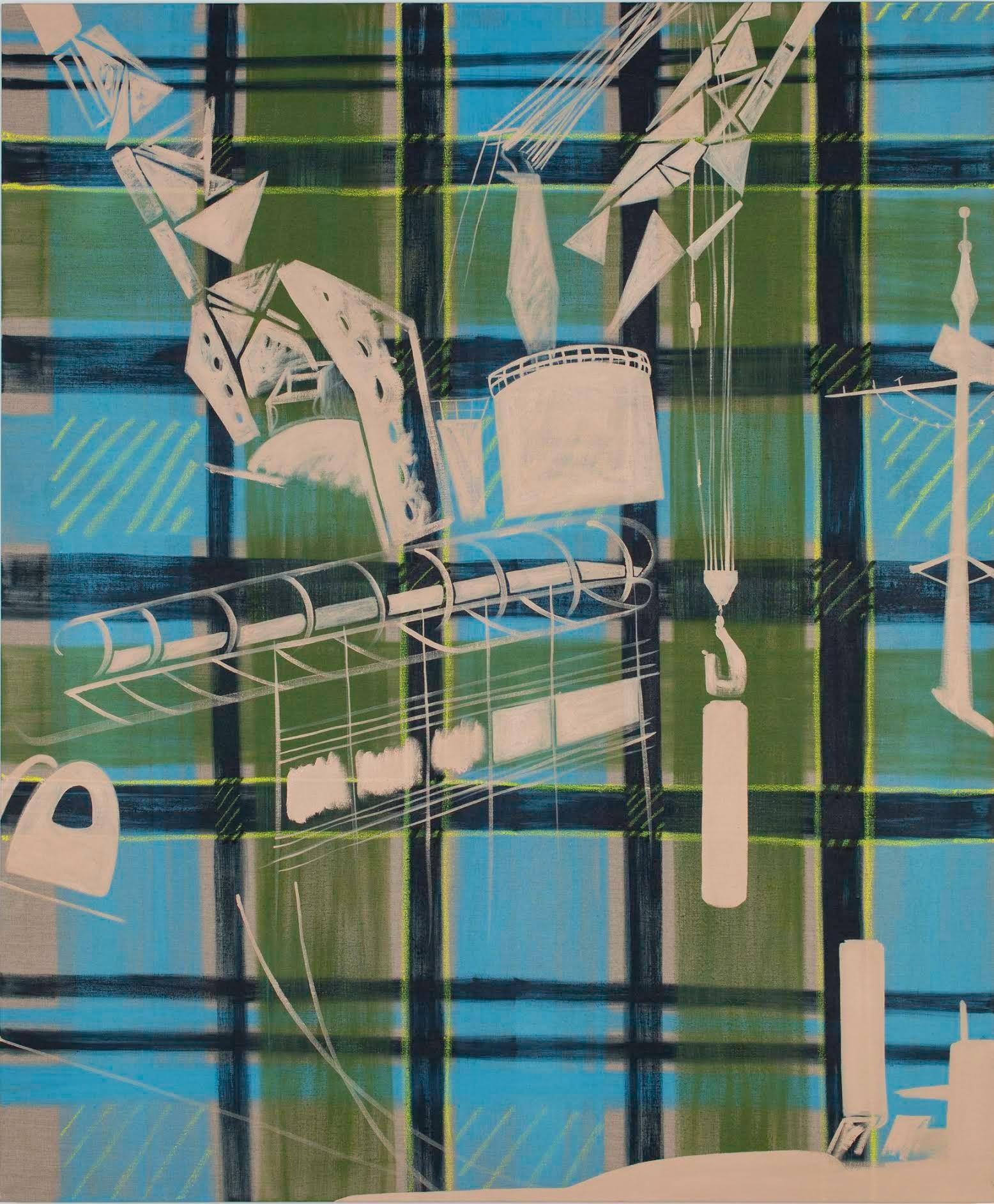 Caragh Thuriung, Polaris, 2016, oil, oil stick on linen, 65 x 54 inches (courtesy of Thomas Dane Gallery)