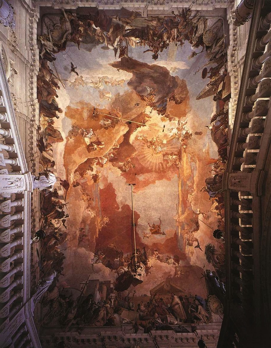 Giovanni Battista Tiepolo, 1752-53, Fresco Stairwell of the Residenz, Würzburg