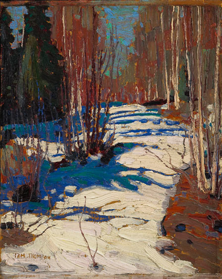 Tom Thomson, Path Behind Mowat Lodge, 1917 (Courtesy and © Art Gallery of Ontari