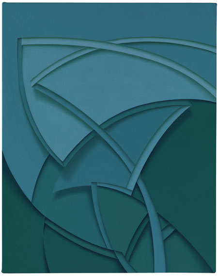 Tomma Abts, Uphe, 2011, acrylic and oil on canvas