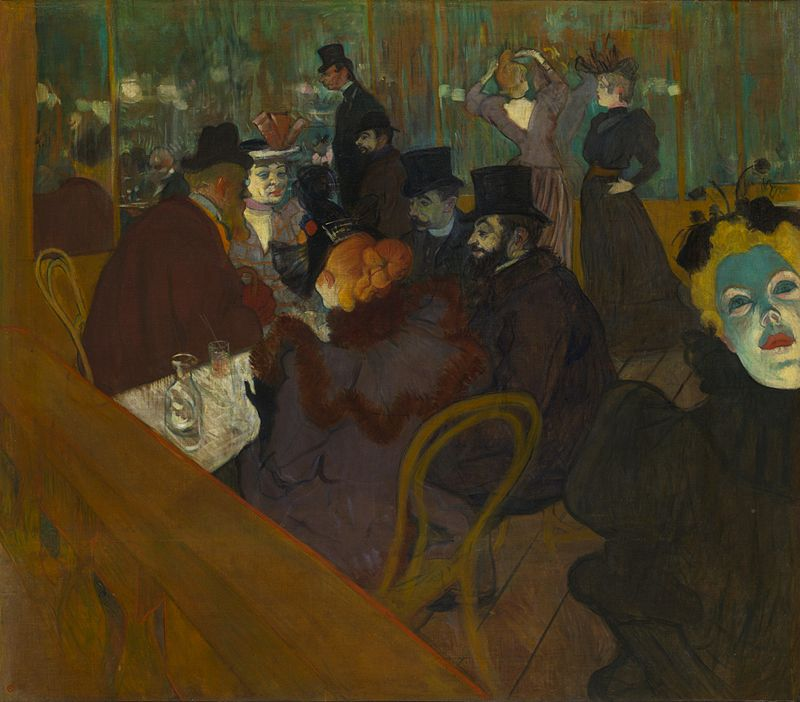 Henri de Toulouse-Lautrec, At the Moulin Rouge, 1892-1895 (collection of the Art