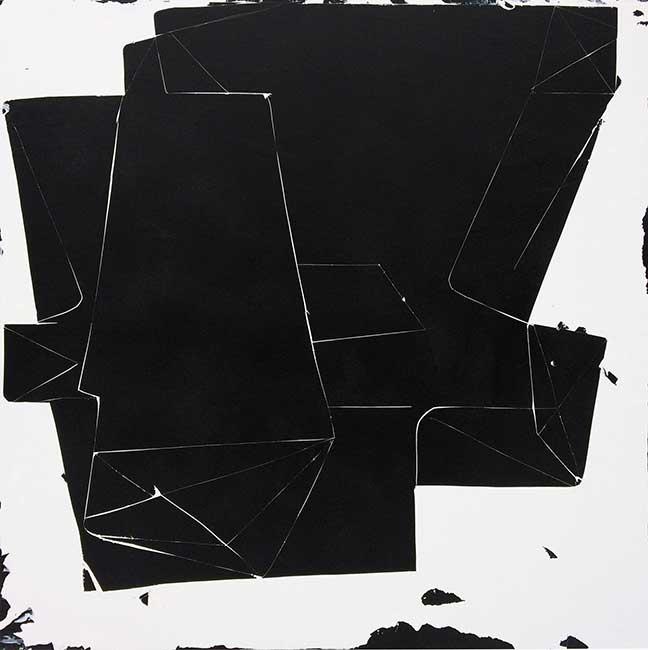 Tim Tozer, Black Mass I, acrylic and spray paint on panel, 2015 (courtesy of the