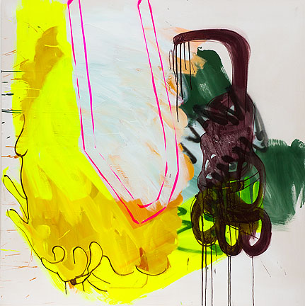 Sabine Tress, Abracadabra, 2012, 150x150cm (59 x 59 inches), acrylic paint and s