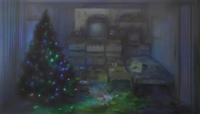 Brandi Twilley, Christmas Tree, 2015, oil on canvas (courtesy of Sargent's Daughters)