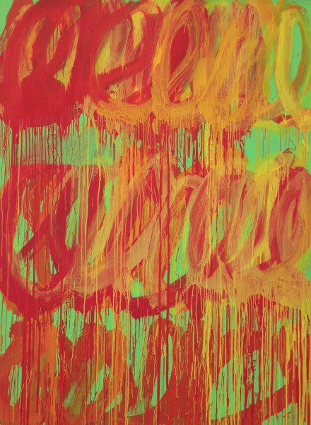 Cy Twombly, Untitled (Camino Real), 2011 (courtesy Gagosian Gallery)