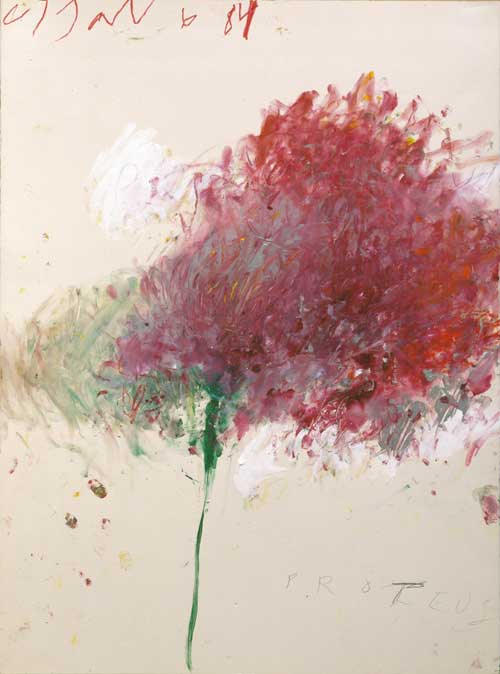 Cy Twombly, Proteus, 1984, acrylic paint, color pencil, pencil on paper, 76 x 56