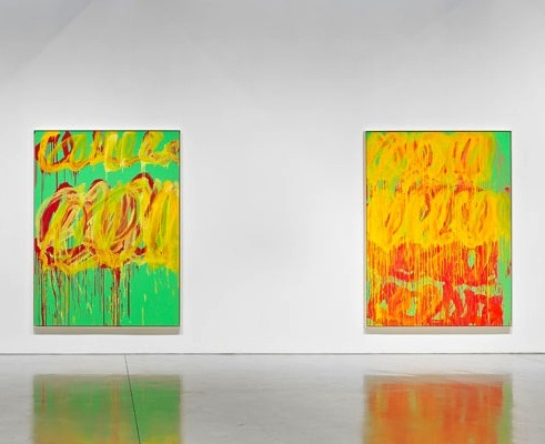 Cy Twombly: The Last Paintings, installation view, photo by Douglas M. Parker St