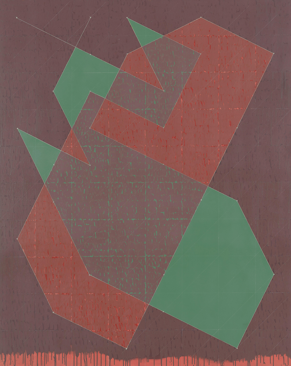 Jack Tworkov, Knight Series #8 (Q3-77 #2), 1977, oil on canvas, 90 x 72 inches (