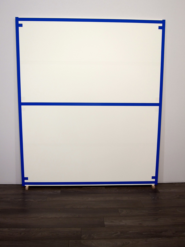 Alan Uglow, Standard #8 (Blue), 1994, acrylic on cotton, 84 1/4 x 72 inches (cou