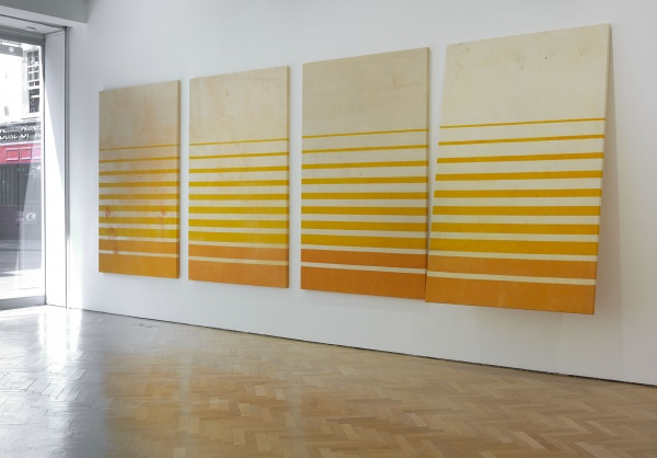 Fredrik Værslev, Untitled (Canopy Painting: Orange, Cream and Yellow), 2012 (cou