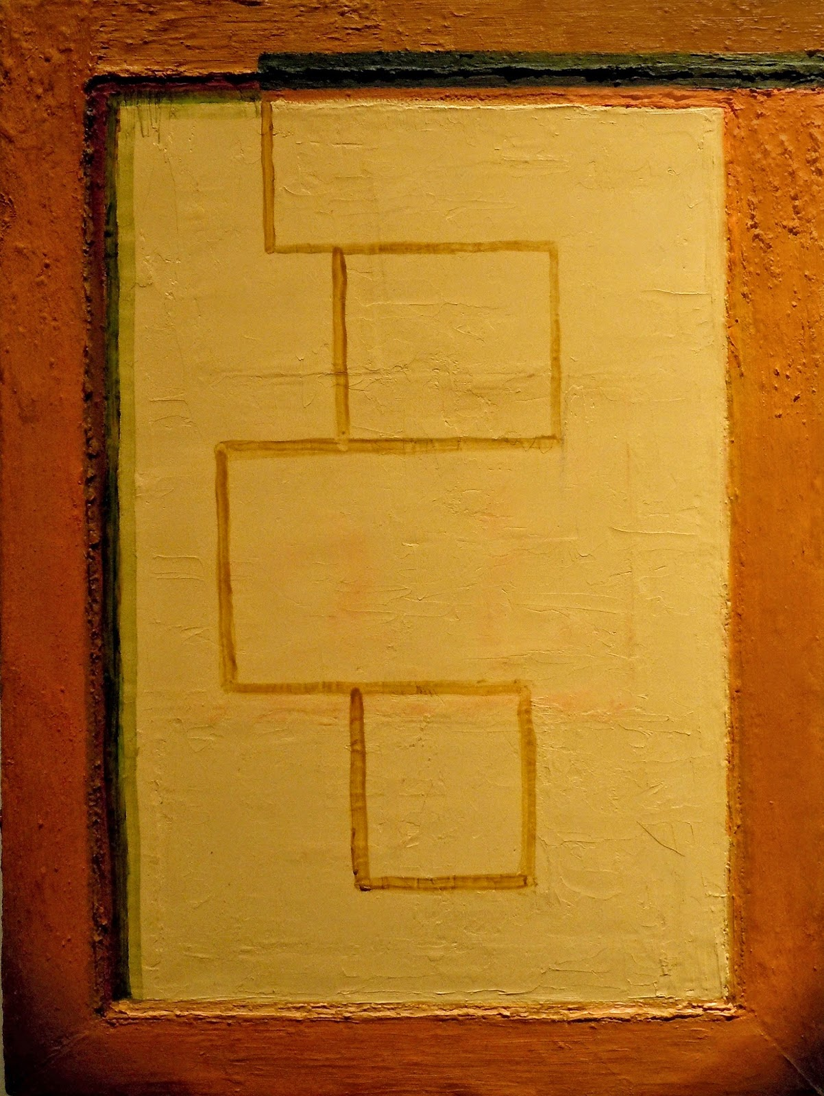 Fred Valentine, Abstract Picture #22, Oil On Canvas, 9 X 12 Inches, 2013  (courtesy Of The Artist)