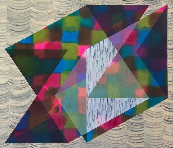 Nichole Van Beek, Curtain Call, 2012, acrylic on canvas, 25 x 29 inches (courtes