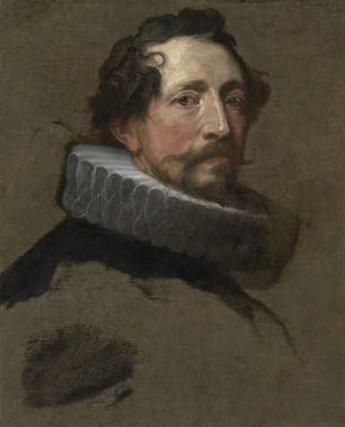 Anthony van Dyck, Portrait Study of a Man Facing Right, ca. 1634 (Private Collec