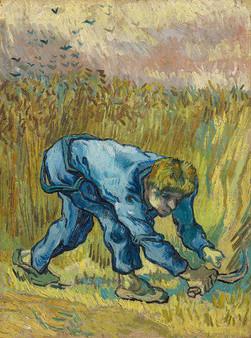 Vincent Van Gogh, The Reaper (after Jean-François Millet), 1889, oil on canvas (