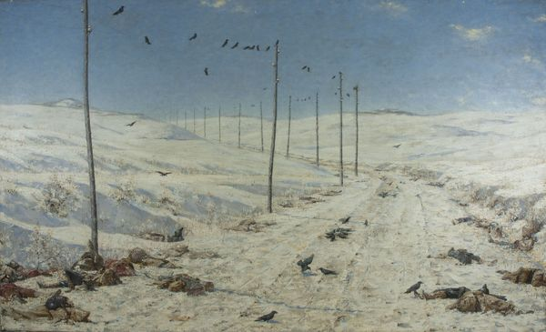 Vasily Vereshchagin, The Road of the War Prisoners, 1878-1879, Oil on canvas, 71