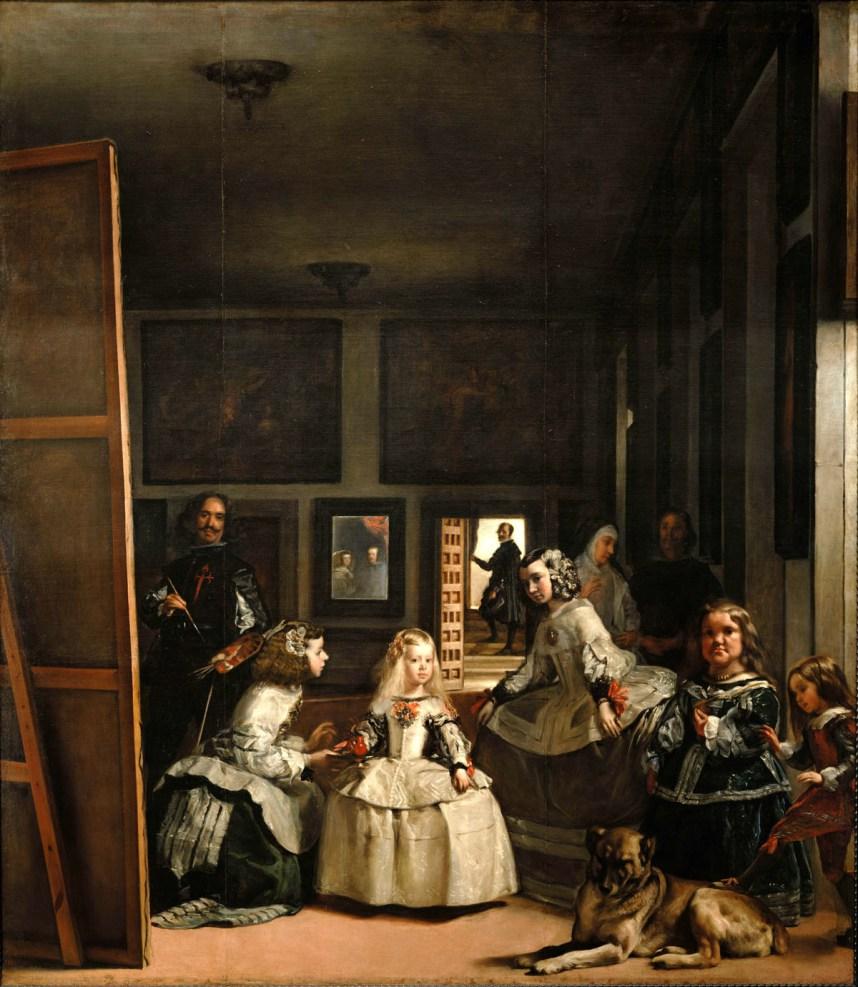 Diego Velázquez, Las Meninas, 1656, oil on canvas, 125.2 in × 108.7 inches (Prad