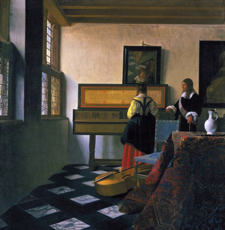 Johannes Vermeer, The Music Lesson, 1662-65, oil on canvas (Royal Collection, St