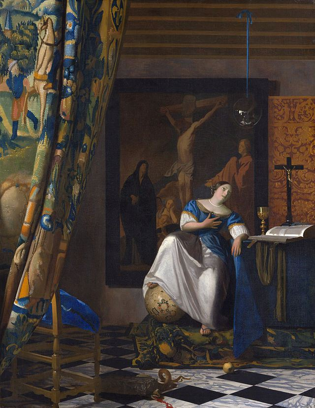Johannes Vermeer, The Allegory of Faith, c. 1670-72, oil on canvas, 45 x 35 inch