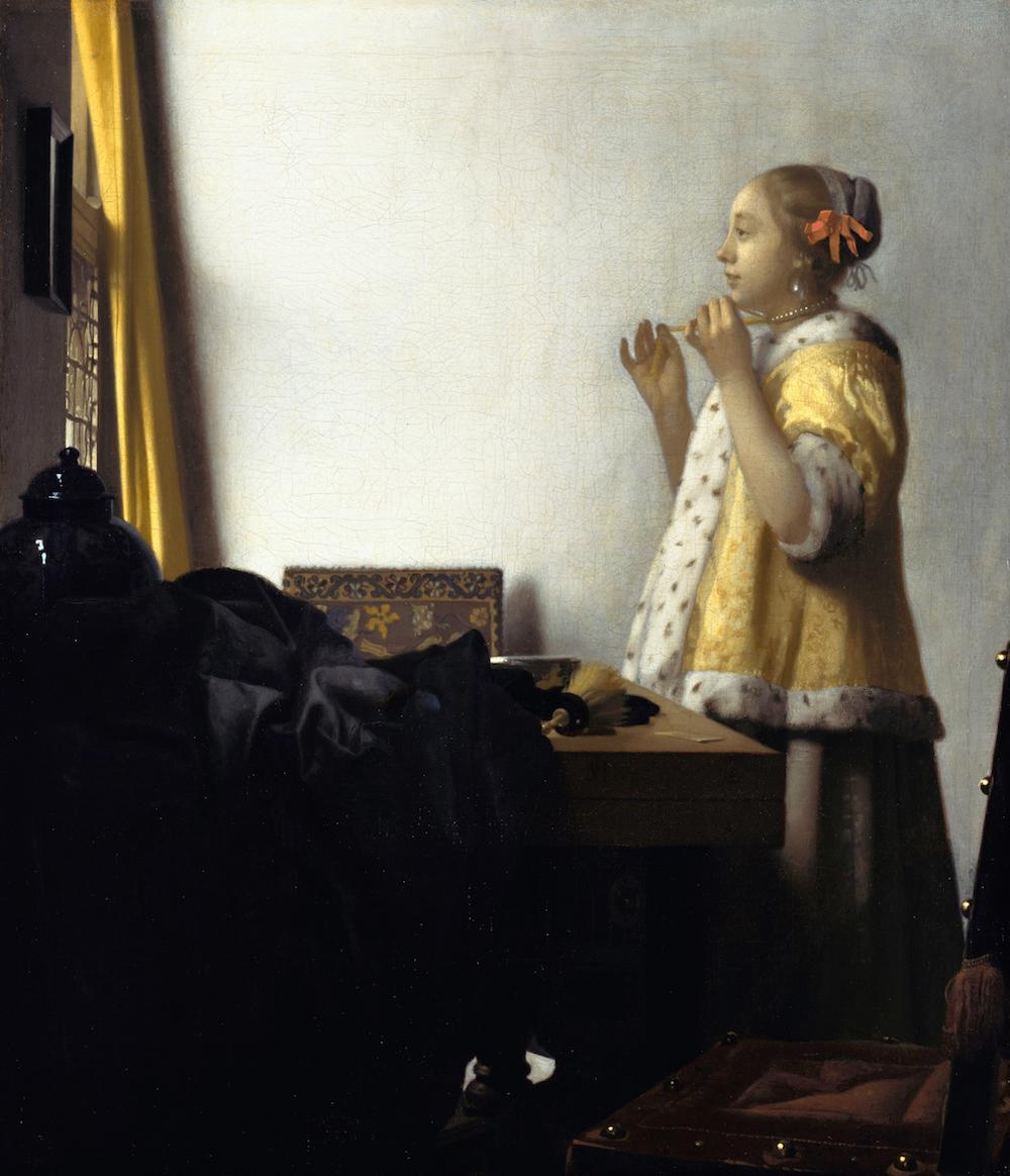 Johannes Vermeer, 1664, oil on canvas, 21 5/8 in × 17 3/4 inches (Gemäldegalerie