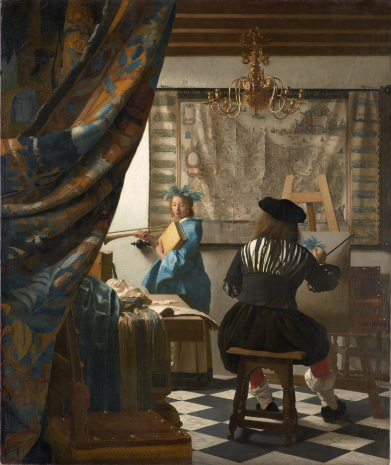Jan Vermeer, The Artist in His Studio, 1665-1670, oil on canvas, 52 x 44 inches (Kunsthistorisches Museum Vienna)