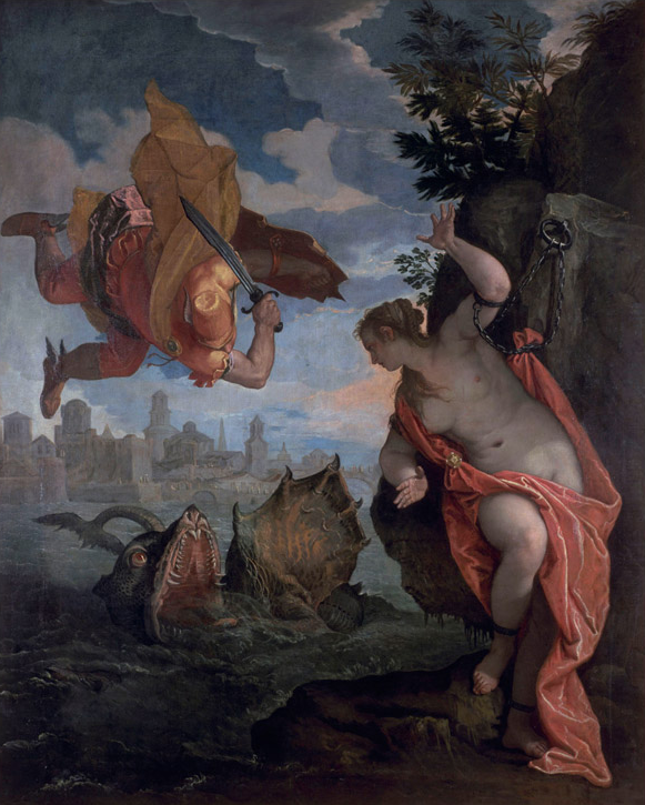 Paolo Veronese, Perseus and Andromeda, 1575-80, oil on canvas, 260 x 211 cm (Ren