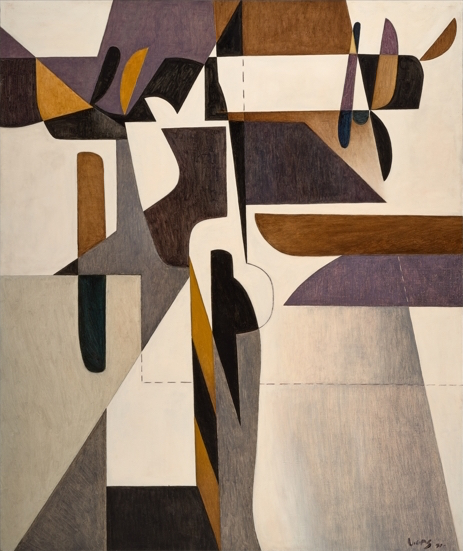 Oswaldo Vigas, Hieratica IV, 1971, oil on canvas, 70.7 x 58.9 inches (courtesy o