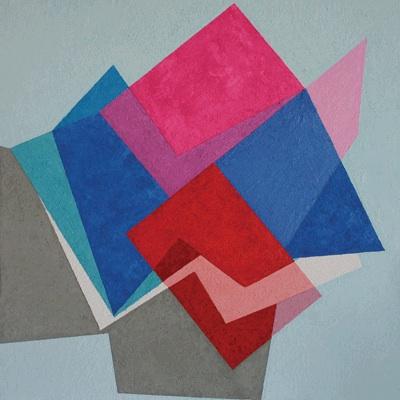 Kati Vilim, proximities 2013, plaster, water soluble ink on panel, 23.5 x 23.5 i