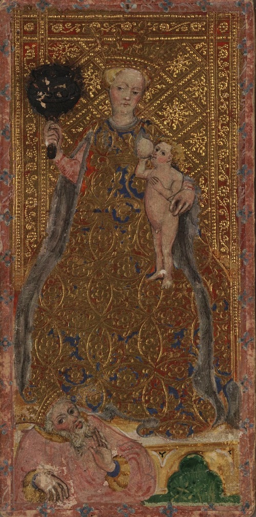 Cary-Yale Visconti tarot card, attributed to Bonifacio Bembo, 1445