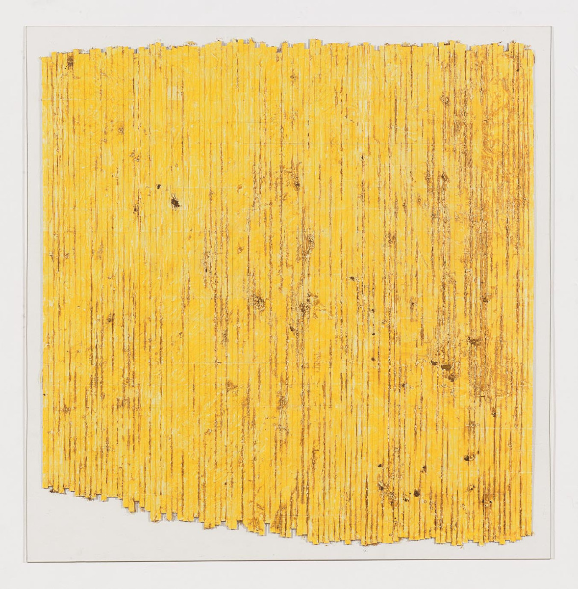 Merrill Wagner, Untitled 2 of 2, 1978, 49 x 48 inches, pastel and tape on Plexiglass (courtesy of Zürcher Gallery)