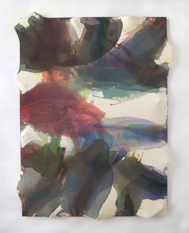 Maria Walker, Summer - Summer Solstice, 2011-12, acrylic, unprimed canvas, wood,