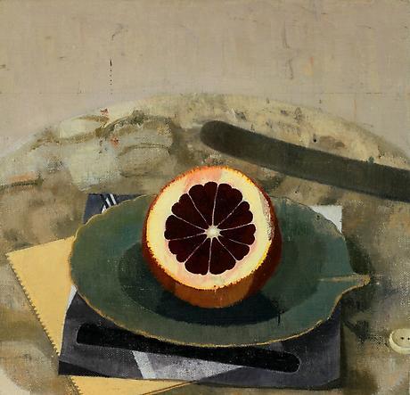 Susan Jane Walp, Heart of Winter Blood Orange, 2010, oil on linen, 7 5/8 x 8 inc