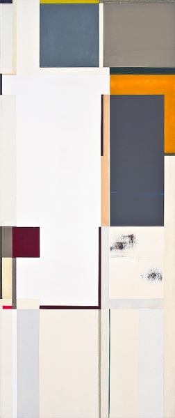 Joan Waltemath, fourth corso, 2007-2009, oil, graphite, zinc, stainless steel, p