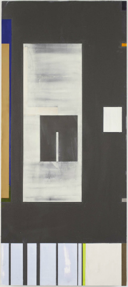 Joan Waltemath, Oaxaca Blue/darkness too, 2007-15, oil,  graphite, bronze, flour