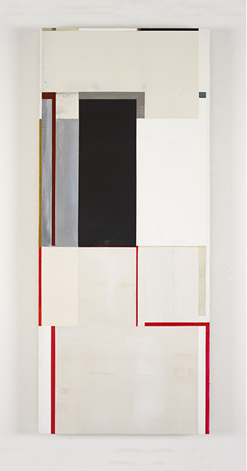 Joan Waltemath, stepped threshold (West 1 1,2,3,5,8), 2011-2015, oil, iron ore,