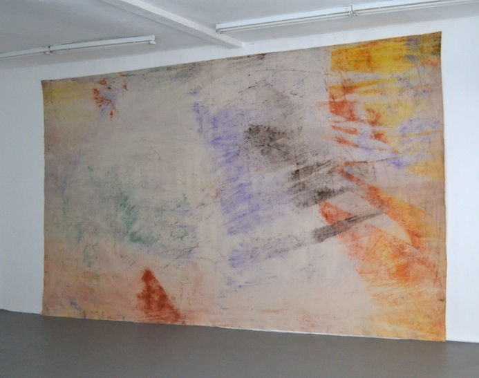 Jessica Warboys, Sea Painting Dunwich, September 2, 2012 pigments on canvas 306