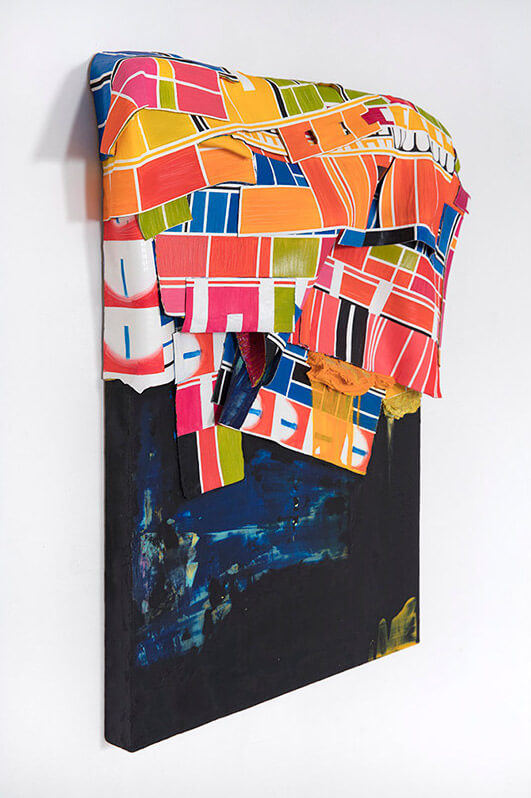 Leslie Wayne, Free Experience, 2015, oil on panel (courtesy of Jack Shainman Gallery)