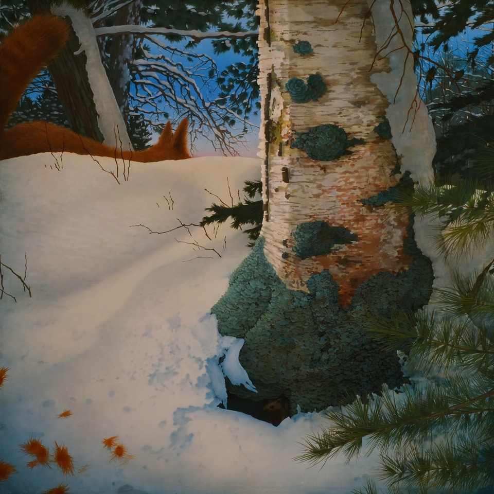 Erik Weisenburger, Witness to an Afternoon Confrontation, oil on panel, 2013-14