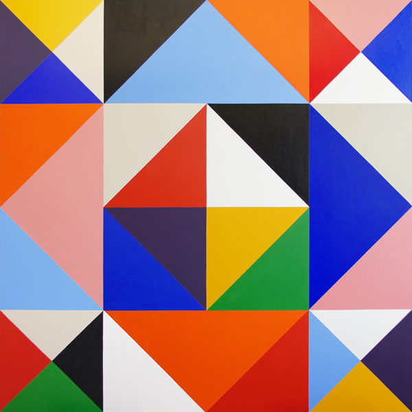 Stephen Westfall, Scheherazade, 2013, oil and alkyd on canvas, 72 × 72 inches (c