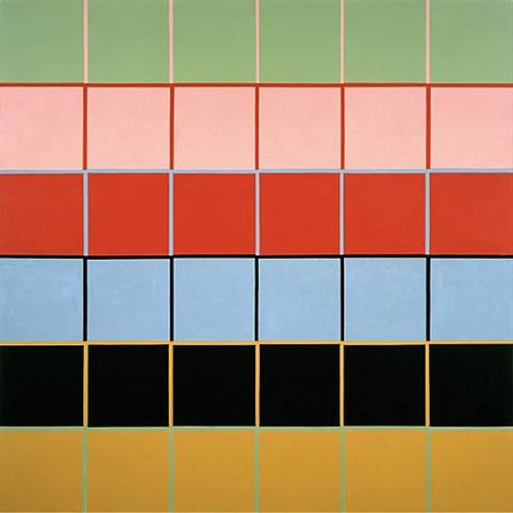 Stephen Westfall, Jerome, 2006, oil and alkyd on canvas, 60 x 60 inches (courtes