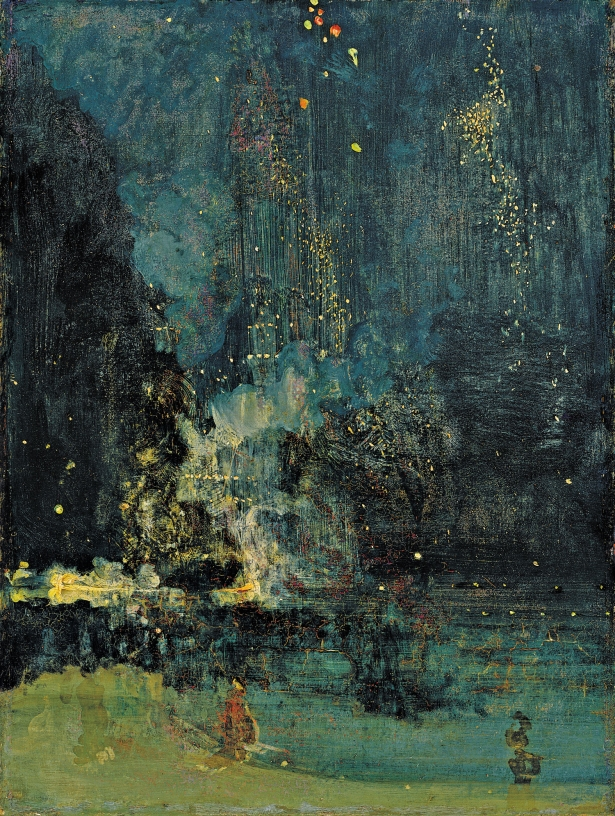 James Abbott McNeill Whistler, Nocturne in Black and Gold - The Falling Rocket,