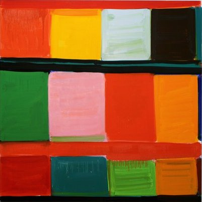 Stanley Whitney, Aura of the Sandfall, 2014, oil on linen, 48 x 48 inches (court
