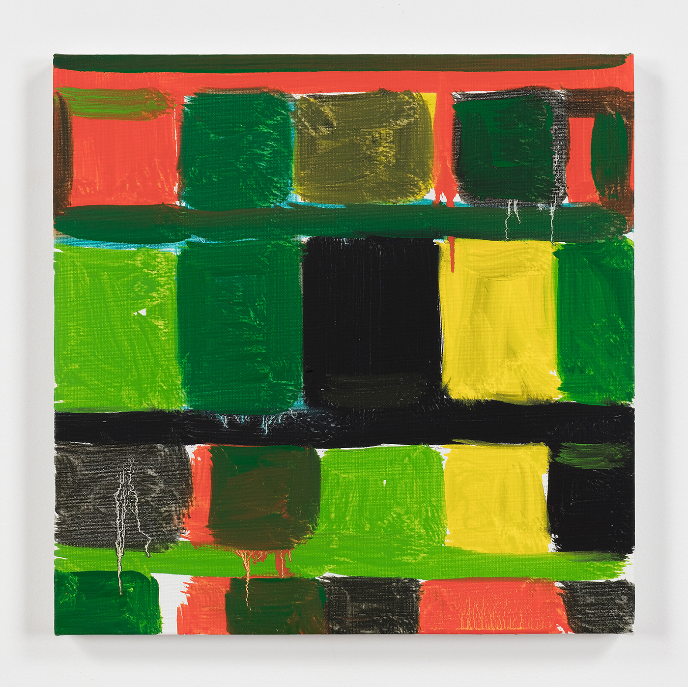 Stanley Whitney, Untitled, 2016, oil on linen, 12 x 12 inches (courtesy of the artist)