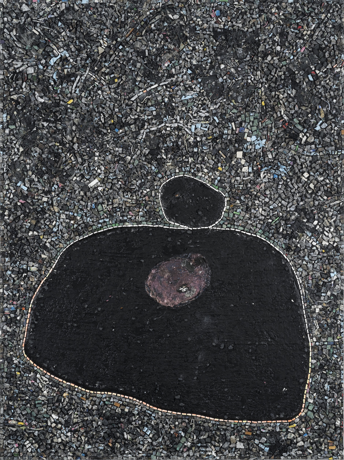 Black Monolith X, Birth of Muhammad Ali, 2016, acrylic on canvas, 84 x 63 inches (courtesy of Hauser & Wirth)
