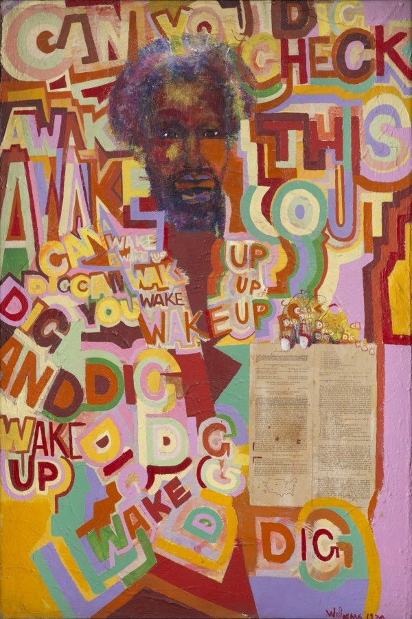 Gerald Williams, Wake Up, 1969, acrylic on canvas, 36 x 48 inches (courtesy of t